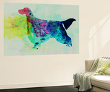 Gordon Setter Watercolor Wall Mural by  NaxArt