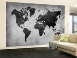 World  Map 8 Veggmaleri – stort av  NaxArt