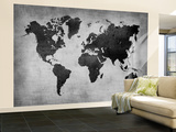 World  Map 8 Wall Mural – Large by  NaxArt
