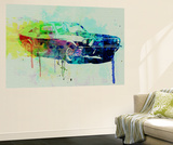 Ford Mustang Watercolor 2 Wall Mural by  NaxArt