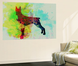 Doberman Pinscher Watercolor Wall Mural by  NaxArt