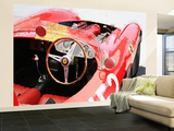 Ferrari Cockpit Monterey Watercolor Wall Mural – Large