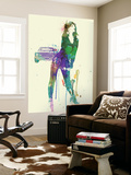 Camaro Girl Wall Mural by  NaxArt