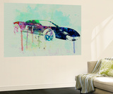 Ford Gt Watercolor 2 Wall Mural by  NaxArt