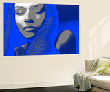 Blue Beauty Wall Mural by  NaxArt