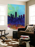 Indianapolis Watercolor Skyline Wall Mural by  NaxArt