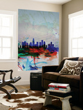 Los Angeles Watercolor Skyline 1 Wall Mural by  NaxArt