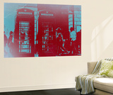 London Telephone Booth Wall Mural by  NaxArt