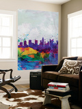 Columbus Watercolor Skyline Wall Mural by  NaxArt