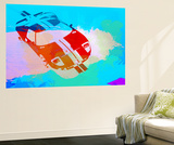 Ford Gt Watercolor Wall Mural by  NaxArt