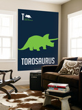 Green Dinosaur Wall Mural by  NaxArt