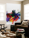 San Francisco Watercolor Skyline 1 Wall Mural by  NaxArt
