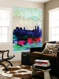 Melbourne Watercolor Skyline 2 Wall Mural by  NaxArt