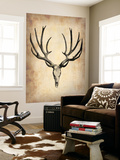 Vintage Deer Scull Wall Mural by  NaxArt