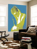 Blue Drama Wall Mural by  NaxArt