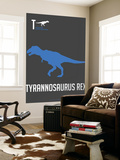 Blue Dinosaur Wall Mural by  NaxArt