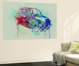 Fiat 500 Watercolor Wall Mural by  NaxArt