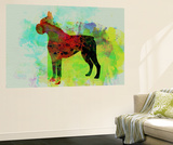 Boxer Watercolor Wall Mural by  NaxArt