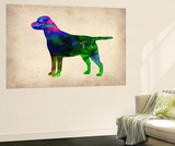 Labrador Retriever Watercolor Wall Mural by  NaxArt