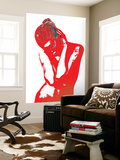 Red Drama Wall Mural by  NaxArt