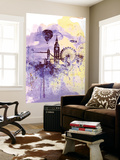 London Watercolor Skyline Wall Mural by  NaxArt