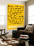 Dinosaur Poster Yellow Wall Mural by  NaxArt