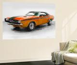 1968 Dodge Challenger Watercolor Wall Mural