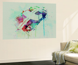 Ford Gt Top Watercolor Wall Mural by  NaxArt