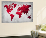 World  Map 9 Wall Mural by  NaxArt