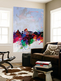 Rome Watercolor Skyline Wall Mural by  NaxArt