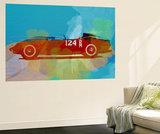 Ferrari Testa Rossa Watercolor 1 Wall Mural by  NaxArt