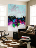Istanbul Watercolor Skyline Wall Mural by  NaxArt