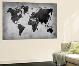 World  Map 8 Papier Peint Premium par  NaxArt