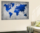World  Map 10 Vægplakat af  NaxArt