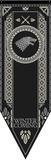 Game Of Thrones- House Stark Tournament Banner - Resim