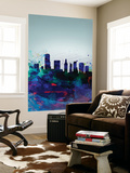 Miami Watercolor Skyline Wall Mural by  NaxArt