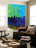 San Antonio Watercolor Skyline Wall Mural by  NaxArt