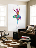 Ballerina Watercolor 1 Wall Mural by Irina March