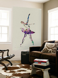 Ballerina Watercolor 4 Wall Mural by  NaxArt