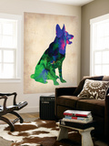 German Sheppard Watercolor Wall Mural by  NaxArt