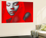 Red Beauty Wall Mural by  NaxArt