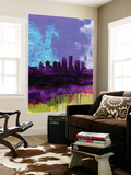 Louisville Watercolor Skyline Wall Mural by  NaxArt
