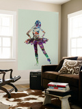 Ballerina Watercolor Wall Mural by  NaxArt