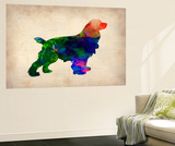 Spaniel Watercolor Wall Mural by  NaxArt