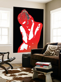 Red Black Drama Wall Mural by  NaxArt