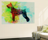Giant Schnauzer Watercolor Wall Mural by  NaxArt