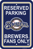 MLB Milwaukee Brewers Plastic Parking Sign Wall Sign