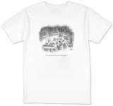 """Let's just start cutting and see what happens."" - New Yorker T-Shirt T-shirts by Frank Cotham"
