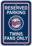 MLB Minnesota Twins Plastic Parking Sign Wall Sign