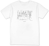 """Good coffee."" - New Yorker T-Shirt T-Shirt by Michael Crawford"